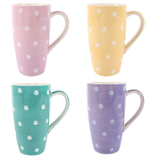Polka Splodge Latte Mug Pack Of 4