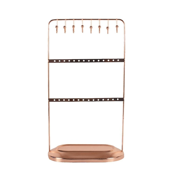 Jewellery Stand on Base Rose Gold 30cm