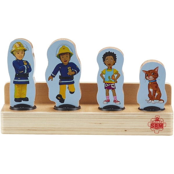 Fireman Sam Wooden 4-Figure Pack