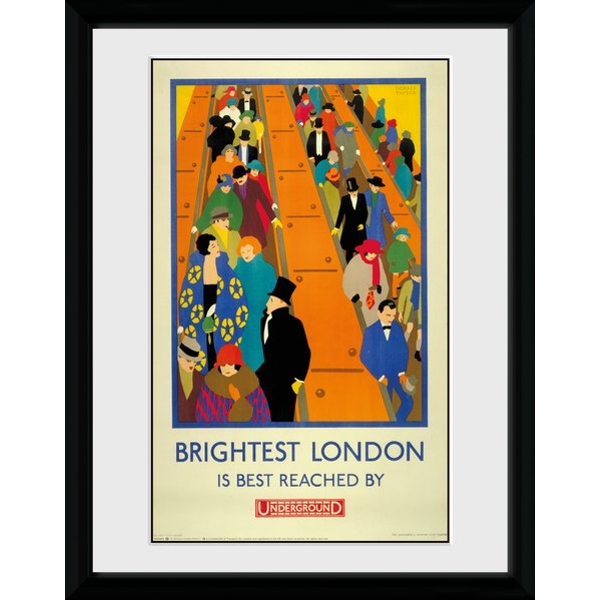 """Transport For London Brightest London 12"""" x 16"""" Framed Collector Print"""
