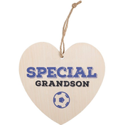 Special Grandson Hanging Heart Sign