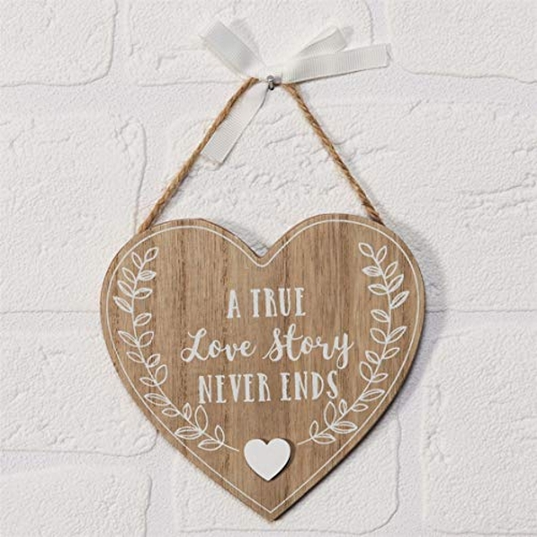 Love Story A True Love Story Heart Plaque