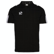 Sondico Venata Polo Shirt Youth Youth 11-12 (LB) Black/Charcoal/White
