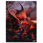 Large Fire Dragon Canvas Picture by Anne Stokes