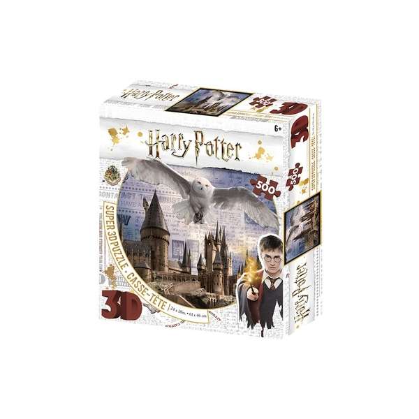 Harry Potter Hogwarts and Hedwig 3D Puzzle 500 Pieces