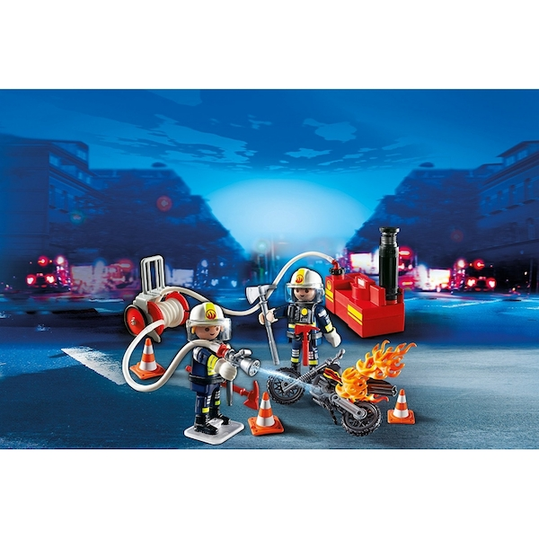 Playmobil City Action Fire Brigade Firefighters with Water Pump - Image 4