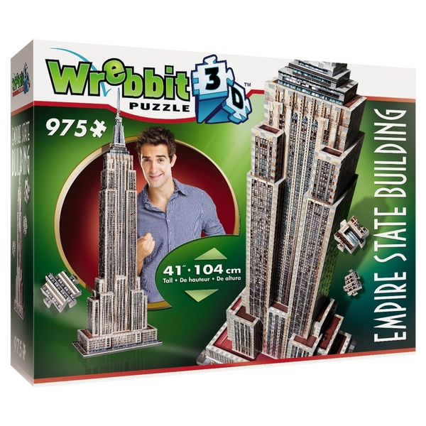 Wrebbit 3D Empire State Building Jigsaw Puzzle - 975 Pieces