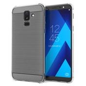 CASEFLEX SAMSUNG GALAXY A6 PLUS (2018) CARBON ANTI FALL TPU CASE - CLEAR