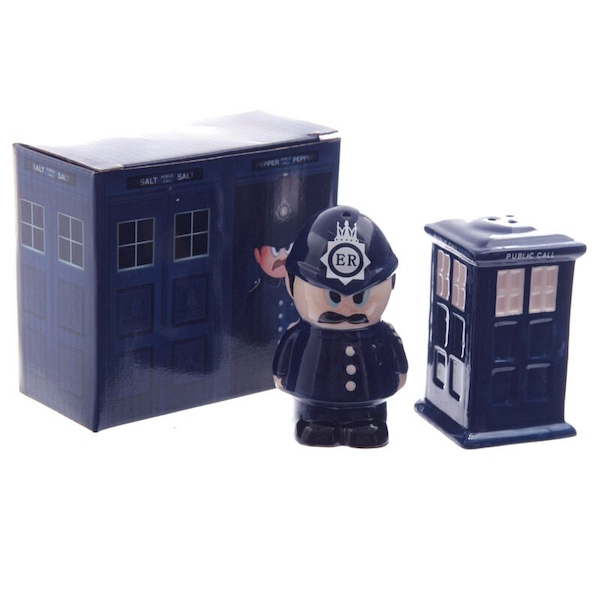 Police Box and Policeman Salt and Pepper Set