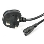 StarTech 1m Laptop 2 Slot C7 Power Cord (BS-1363 UK Plug)
