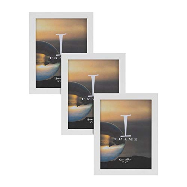 "5"" x 7"" - iFrame Set of 3 Photo Frames White"