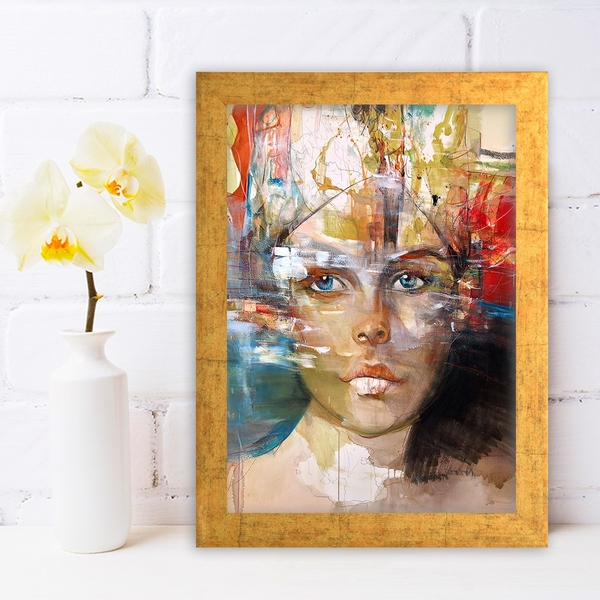 AC1312064783 Multicolor Decorative Framed MDF Painting
