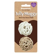 Rosewood Jolly Moggy Silvervine Rattan Balls 2 Pack
