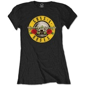 Guns N' Roses - Classic Logo Women's Medium T-Shirt - Black
