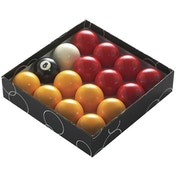 Powerglide Pool Ball Red/Yellow - 1 7/8