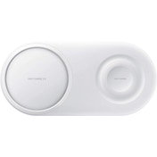 White Wireless Charger Duo Pad With Mains Charger - UK
