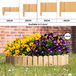 Wooden Spiked Lawn Edging   M&W 30cm - Image 2