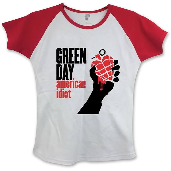 Green Day - American Idiot Women's Large T-Shirt - White,Red