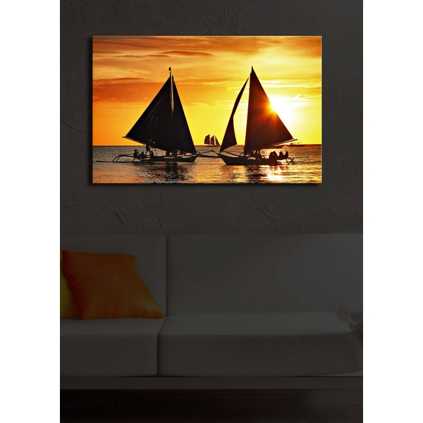 4570?ACT-10 Multicolor Decorative Led Lighted Canvas Painting