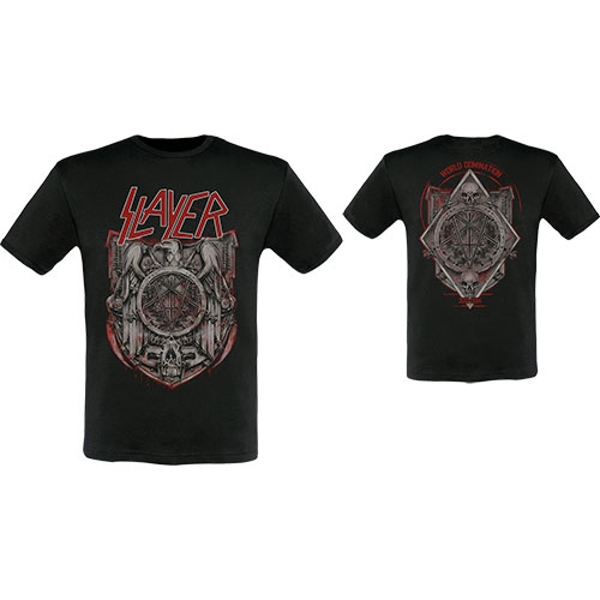 Slayer - Medal 2013/2014 Dates Unisex Small T-Shirt - Black