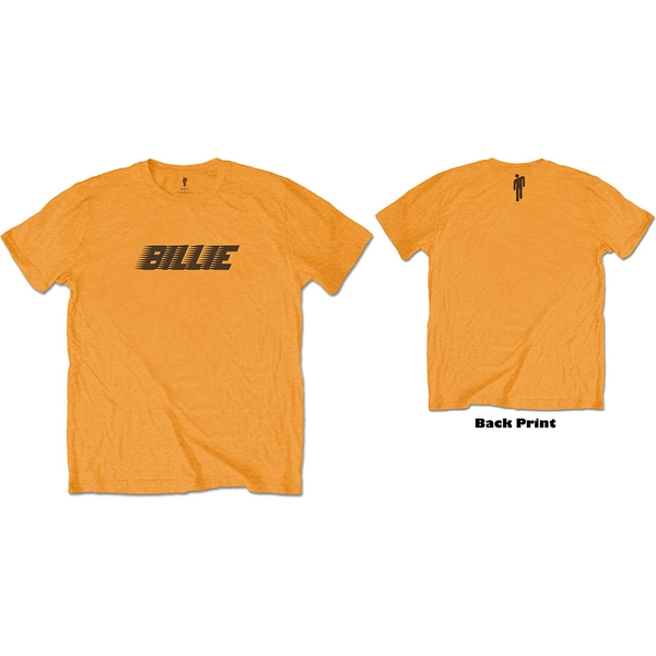Billie Eilish - Racer Logo & Blohsh Unisex Medium T-Shirt - Orange