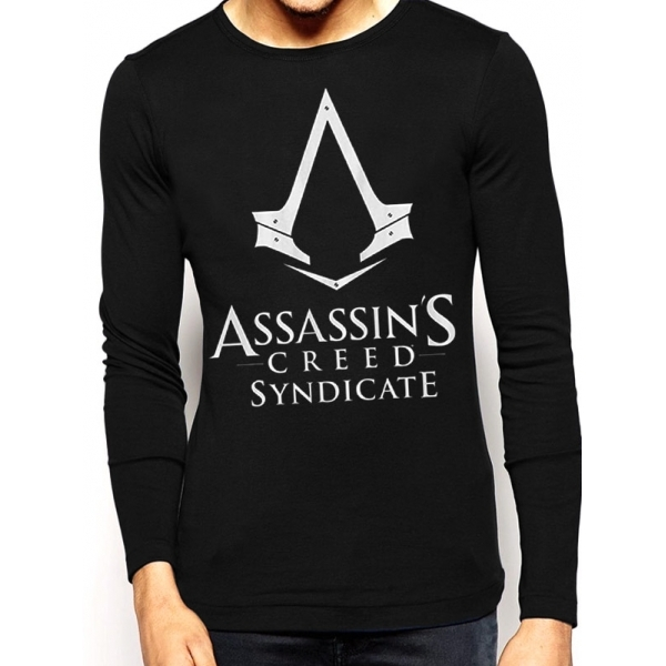 Assassin's Creed Syndicate Logo Black Longsleeved T-Shirt Small