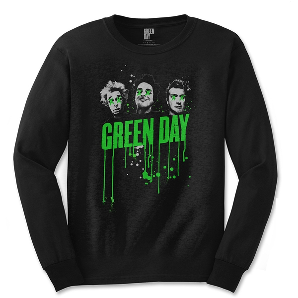 Green Day - Drips Unisex Large T-Shirt - Black