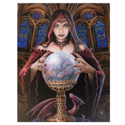 Small Crystal Ball Canvas Picture By Anne Stokes