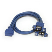 StarTech 2 Port Panel Mount USB 3.0 Cable - USB A to Motherboard Header Cable F/F