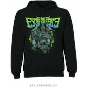 Escape The Fate Stressed Pullover Hoodie Black: Large
