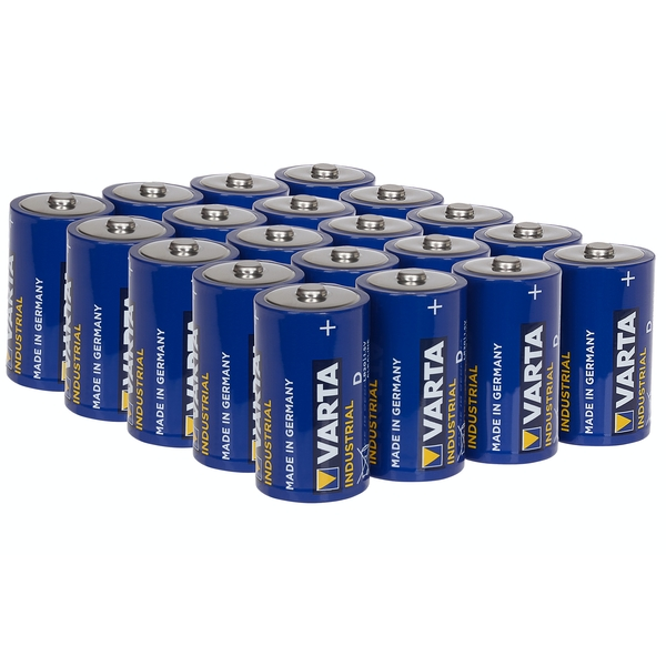 Varta Industrial D Size LR20 Alkaline Batteries 1.5V Pack of 20