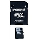 Integral Micro SDHC Media Memory Card with SD Adaptor Capacity 8GB