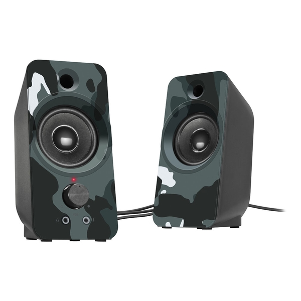 Speedlink Daroc USB-Powered Stereo Speaker Dual 3.5mm Stereo Jack Audio & USB-A Connector (Blue Camouflage)