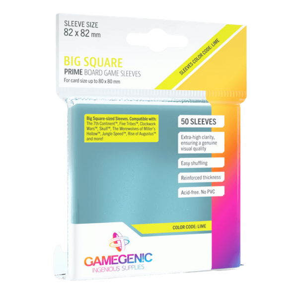 Gamegenic Prime Big Square Sized 82 x 82 mm - 50 Sleeves