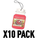 Red Raspberry (Pack Of 10) Yankee Candle Car Jar Air Freshener - Image 2