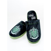 Slytherin Harry Potter Mule Slippers Black & Green Adult Large UK 8-10
