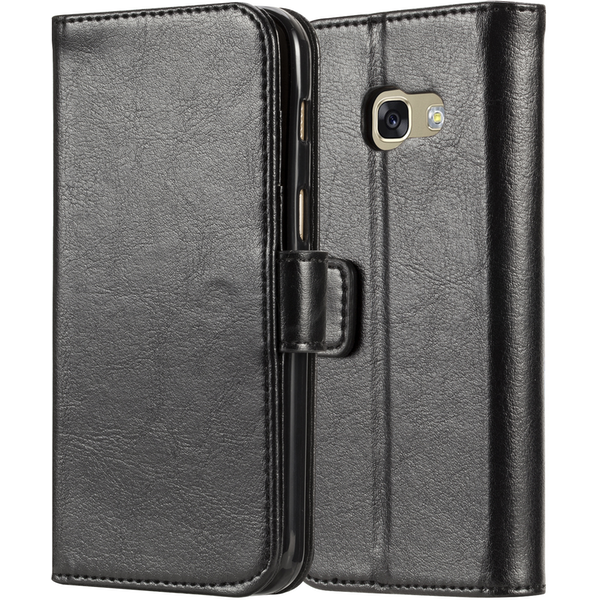 Samsung Galaxy A3 (2017) Real Leather ID Wallet Case - Black (Retail Box)