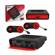 Retro Bit Super Retro Trio 3 in 1 Console Red/Black (NES/SNES/Mega Drive) PAL Version