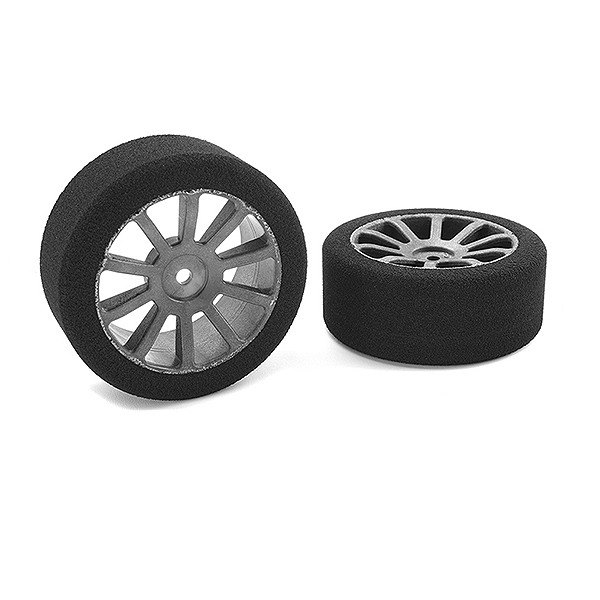 Corally Attack Foam Tires 1/10 Gp Touring 42 Shore 26Mm Front Carbon Rims 2Pcs