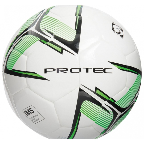 Precision Protec Match Football White/Black/Fluo Green Size 4