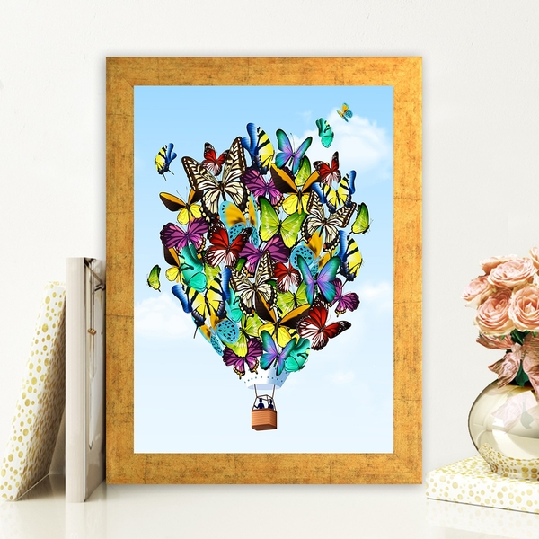 AC466725590 Multicolor Decorative Framed MDF Painting