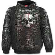 Death Ribs Allover Men's X-Large Hoodie - Black