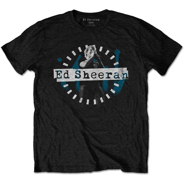 Ed Sheeran - Dashed Stage Photo Men's Medium T-Shirt - Black