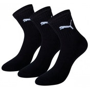 Puma Short Crew Socks Black UK Size 2H-5 Pack of 3