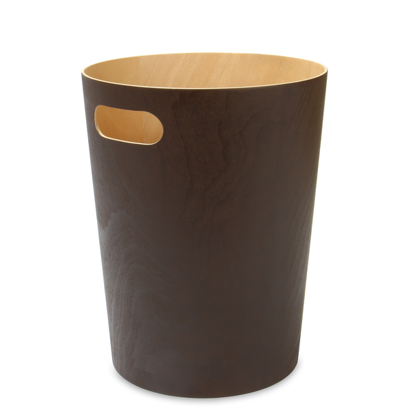 Wooden Waste Paper Bin | M&W Brown - Image 1