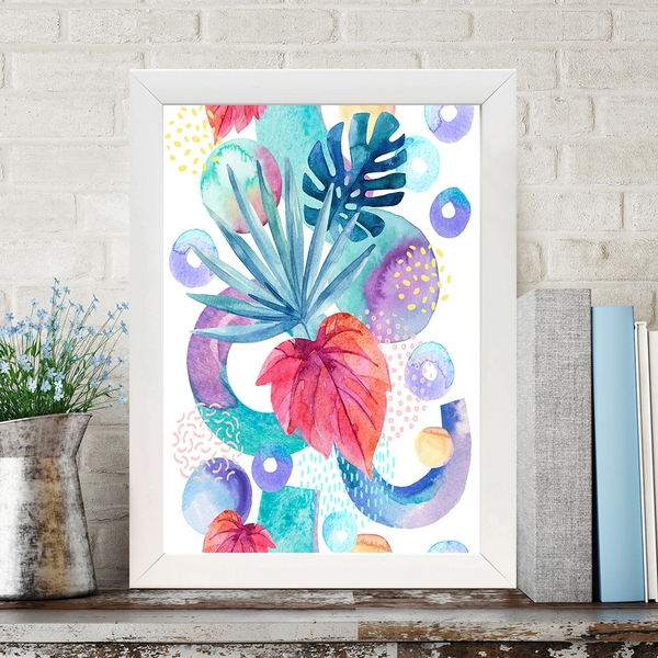 BC1036766047 Multicolor Decorative Framed MDF Painting
