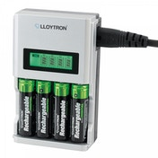 Lloytron B1504 Ultrafast Intelligent LCD Home Charger For AA/AAA UK Plug