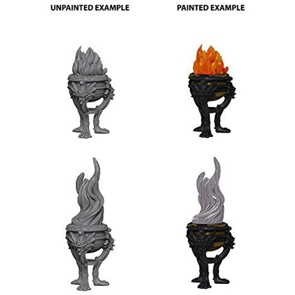 Pathfinder Deep Cuts Unpainted Miniatures Braziers