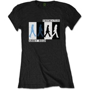 The Beatles - Abbey Road Colours Crossing Women's Medium T-Shirt - Black
