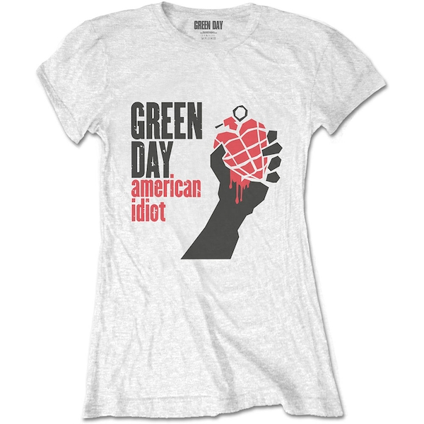 Green Day - American Idiot Women's Large T-Shirt - White